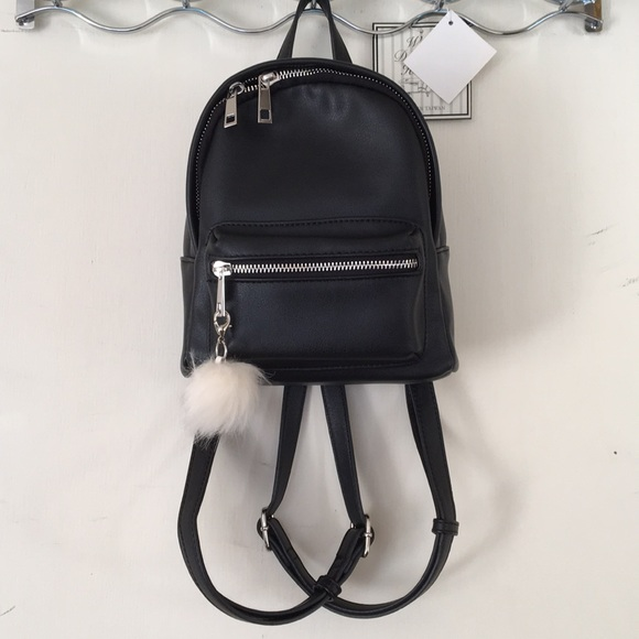 19c7f6938ce2 nordstrom BP black leather mini backpack. M 5a6e54905521beb2f12882db